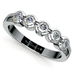 Half Bezel Diamond Wedding Ring in Platinum | Thumbnail 01