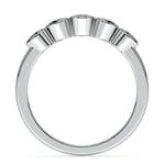 Half Bezel Diamond Wedding Ring in Platinum | Thumbnail 03