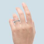 Half Bezel Diamond Wedding Ring in Platinum | Thumbnail 06