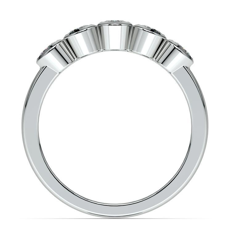 Half Bezel Diamond Wedding Ring in Platinum | 03