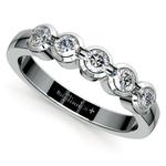 Half Bezel Diamond Wedding Ring in White Gold | Thumbnail 01