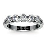 Half Bezel Diamond Wedding Ring in White Gold | Thumbnail 02
