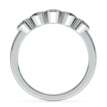 Half Bezel Diamond Wedding Ring in White Gold | Thumbnail 03