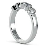 Half Bezel Diamond Wedding Ring in White Gold | Thumbnail 04