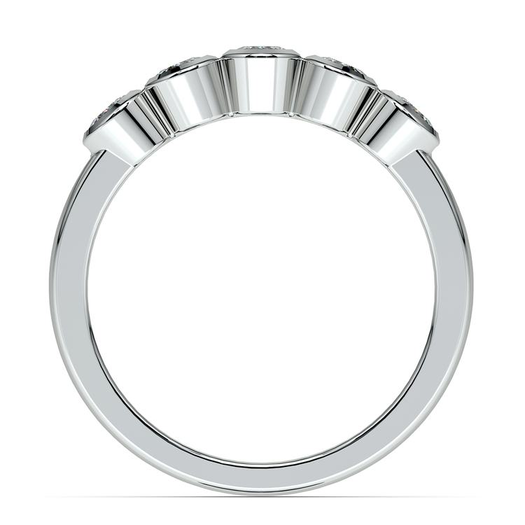 Half Bezel Diamond Wedding Ring in White Gold | 03