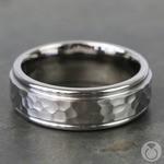Hammered at Noon - Titanium Mens Wedding Band | Thumbnail 04