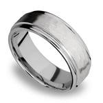 Hammered at Noon - Titanium Mens Wedding Band | Thumbnail 01