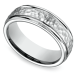 Hammered Men's Wedding Ring in Cobalt | Thumbnail 01