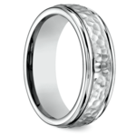 Hammered Men's Wedding Ring in Cobalt | Thumbnail 02