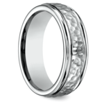 Hammered Men's Wedding Ring in Titanium  | Thumbnail 02