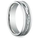 Harvest Milgrain Men's Wedding Ring in White Gold | Thumbnail 02