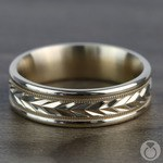 Harvest Milgrain Men's Wedding Ring in Yellow Gold | Thumbnail 03