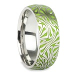 Head Trip - Cobalt Mens Ring with Psychedelic Design | Thumbnail 02