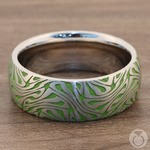 Head Trip - Cobalt Mens Ring with Psychedelic Design | Thumbnail 04
