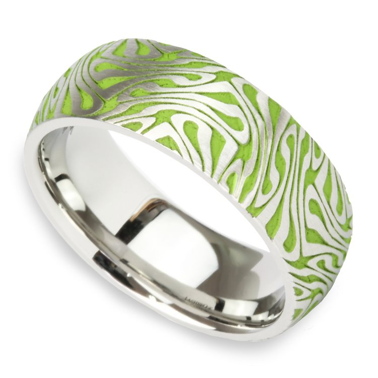 Head Trip - Cobalt Mens Ring with Psychedelic Design | 01