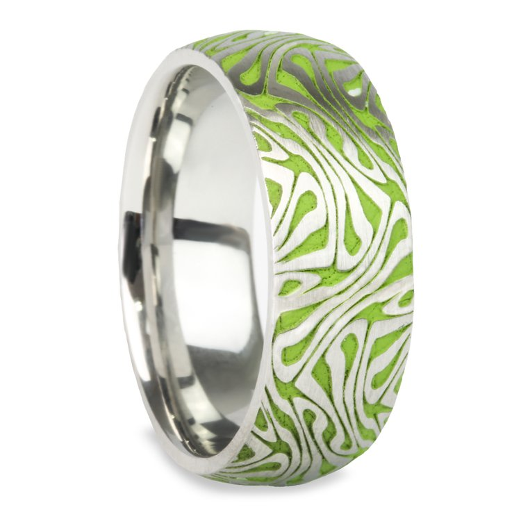 Head Trip Cobalt Mens Ring With Psychedelic Design