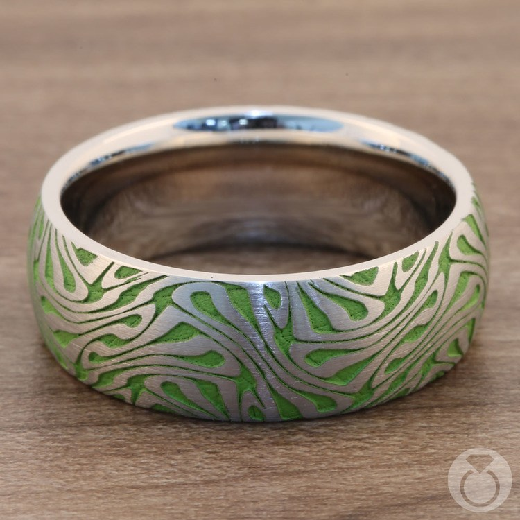 Head Trip - Cobalt Mens Ring with Psychedelic Design | 04
