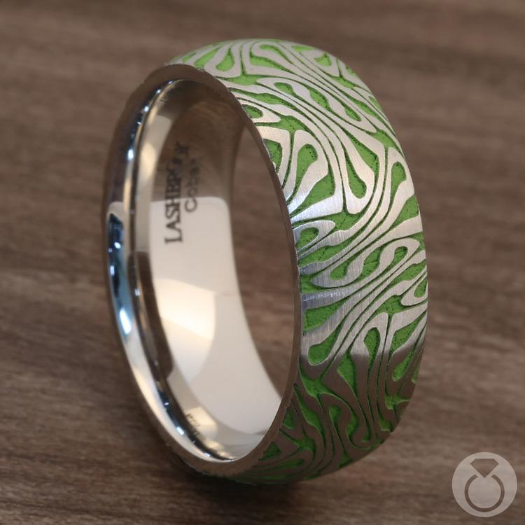 Head Trip - Cobalt Mens Ring with Psychedelic Design | 05