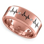 Heartbeat Men's Diamond Eternity Band In Rose Gold | Thumbnail 01