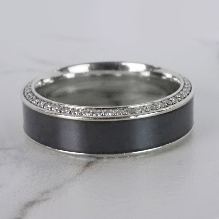 Helios - Polished Bevel White Gold Diamond Elysium Ring | 05