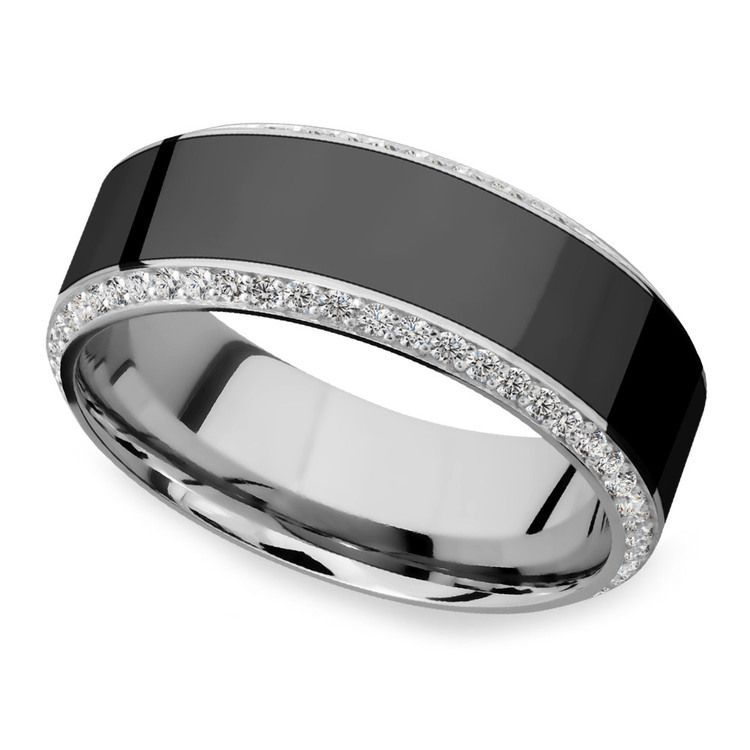 Helios - Polished Bevel White Gold Diamond Elysium Ring | 01