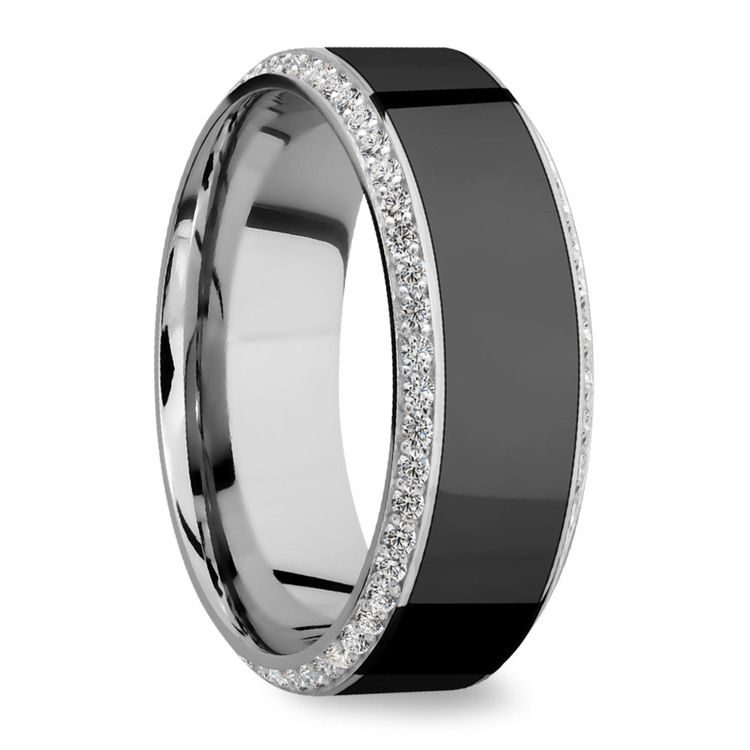 Helios - Polished Bevel White Gold Diamond Elysium Ring | 02