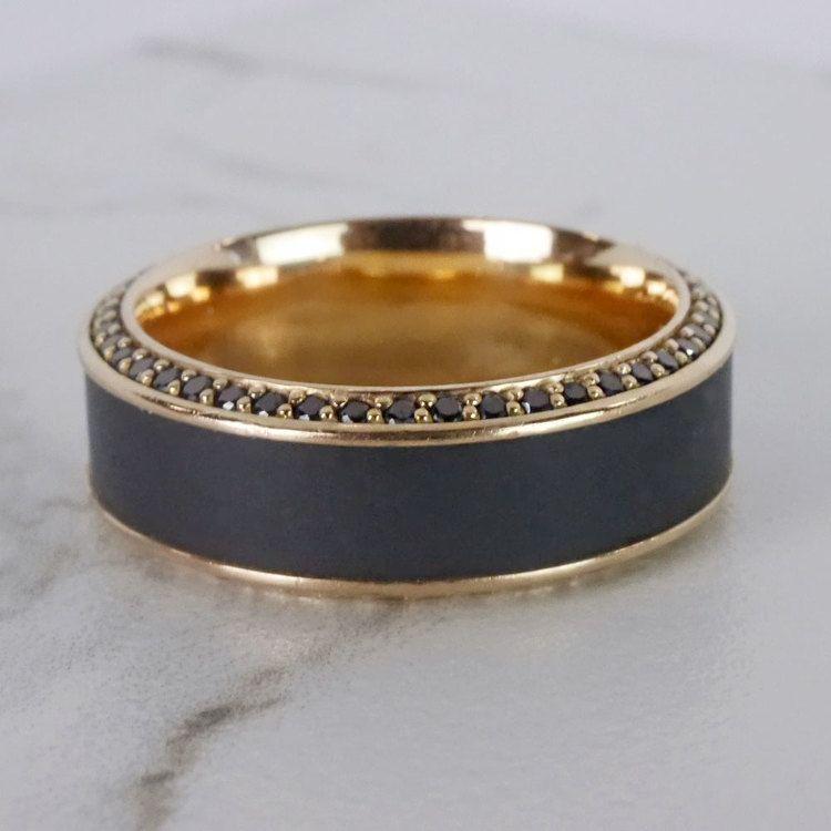 Helios - Matte Bevel Rose Gold Diamond Elysium Ring | 07