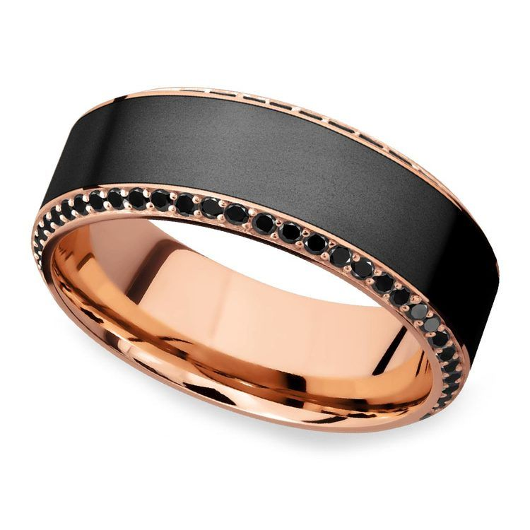 Helios - Matte Bevel Rose Gold Diamond Elysium Ring | 01