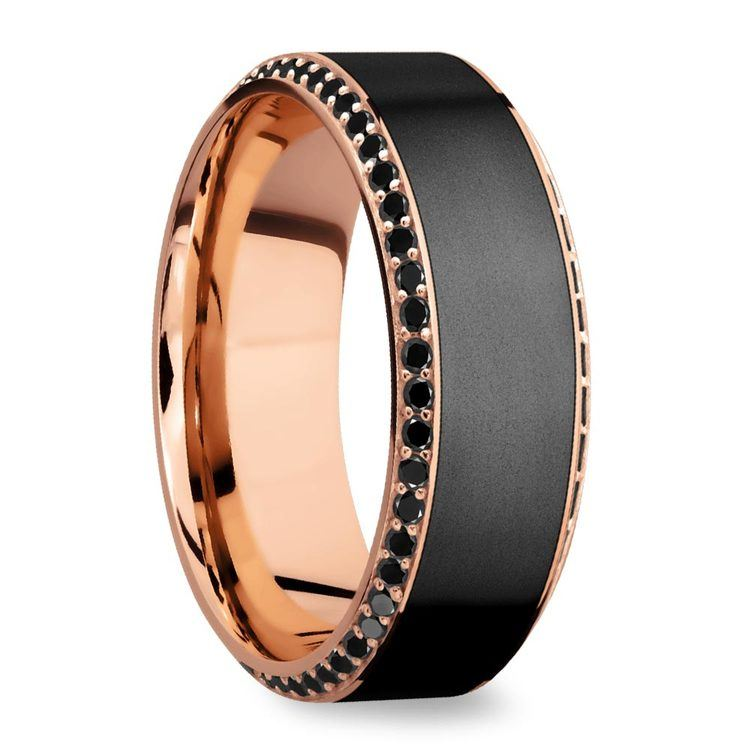 Helios - Matte Bevel Rose Gold Diamond Elysium Ring | 02