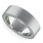Hidden Diamond Men's Wedding Ring in Platinum (7mm) | Thumbnail 01
