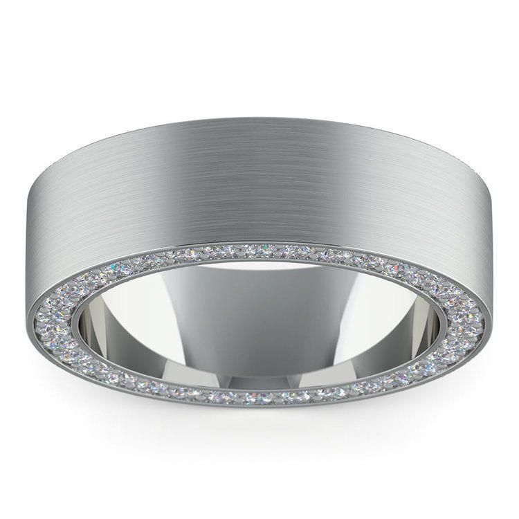 Hidden Diamond Men's Wedding Ring in Platinum (7mm) | 03
