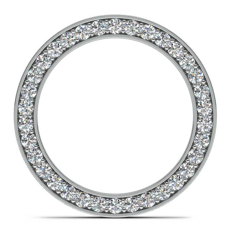 Hidden Diamond Men's Wedding Ring in Platinum (7mm) | 05