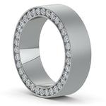Hidden Diamond Men's Wedding Ring in White Gold (7mm)   Thumbnail 02