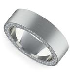 Hidden Diamond Men's Wedding Ring in White Gold (7mm)   Thumbnail 01