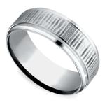 Horizontal Bark Pattern Men's Wedding Ring in Cobalt | Thumbnail 01