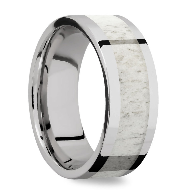 The Hunt -  Cobalt Mens Band with Antler Inlay | 02