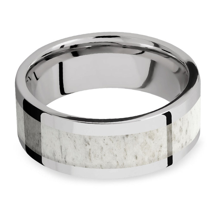 The Hunt -  Cobalt Mens Band with Antler Inlay | 03