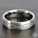 Infinity Pattern Men's Wedding Ring in Titanium | Thumbnail 04