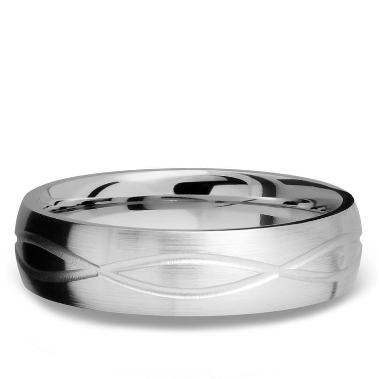 Infinity Pattern Men's Wedding Ring in Titanium | 03