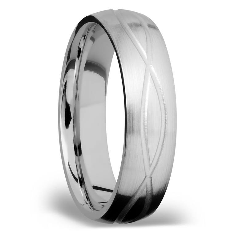 Infinity Pattern Men's Wedding Ring in Titanium | 02