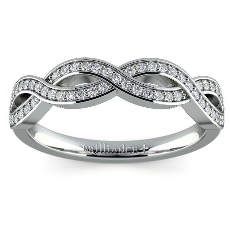 Infinity Twist Diamond Wedding Ring in Platinum | 02