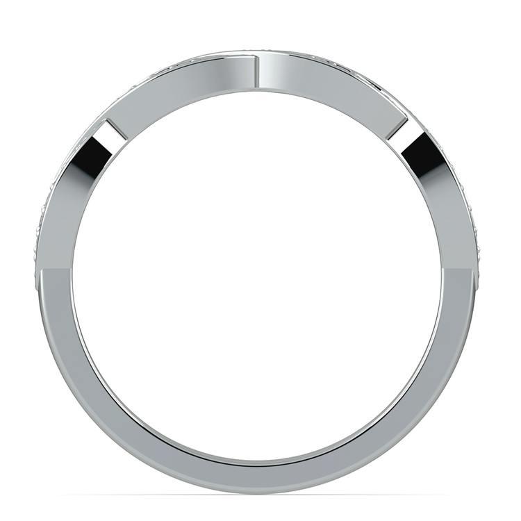 Infinity Twist Diamond Wedding Ring in Platinum | 03