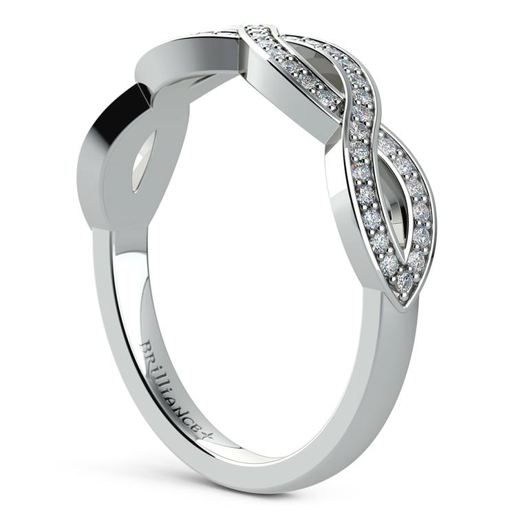 Infinity Twist Diamond Wedding Ring in White Gold | 04