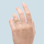 Infinity Twist Diamond Wedding Ring in Yellow Gold   Thumbnail 06