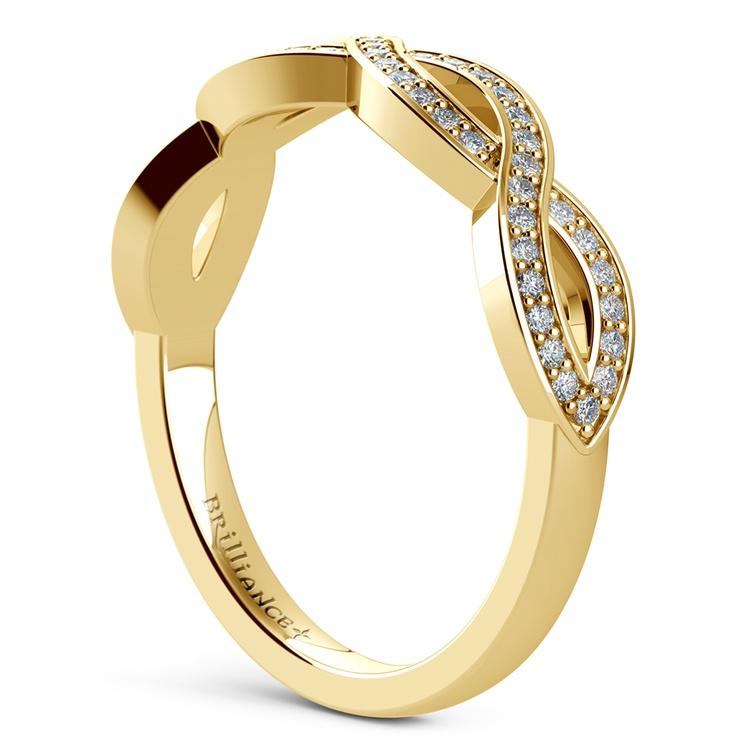 Infinity Twist Diamond Wedding Ring in Yellow Gold | 04