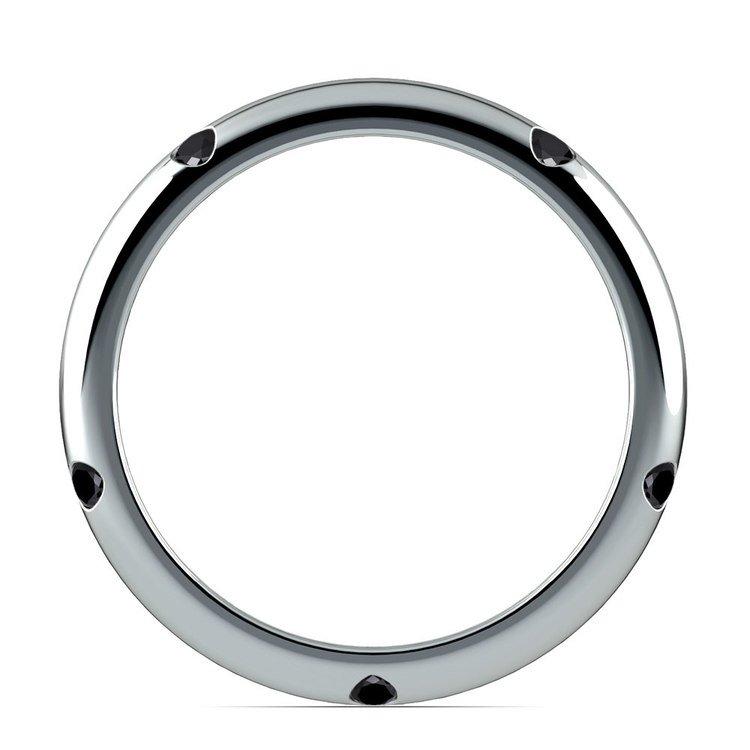 Inset Black Diamond Band in Platinum (3 mm) | 03