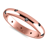 Inset Black Diamond Band in Rose Gold (3 mm) | Thumbnail 01