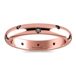 Inset Black Diamond Band in Rose Gold (3 mm) | Thumbnail 02