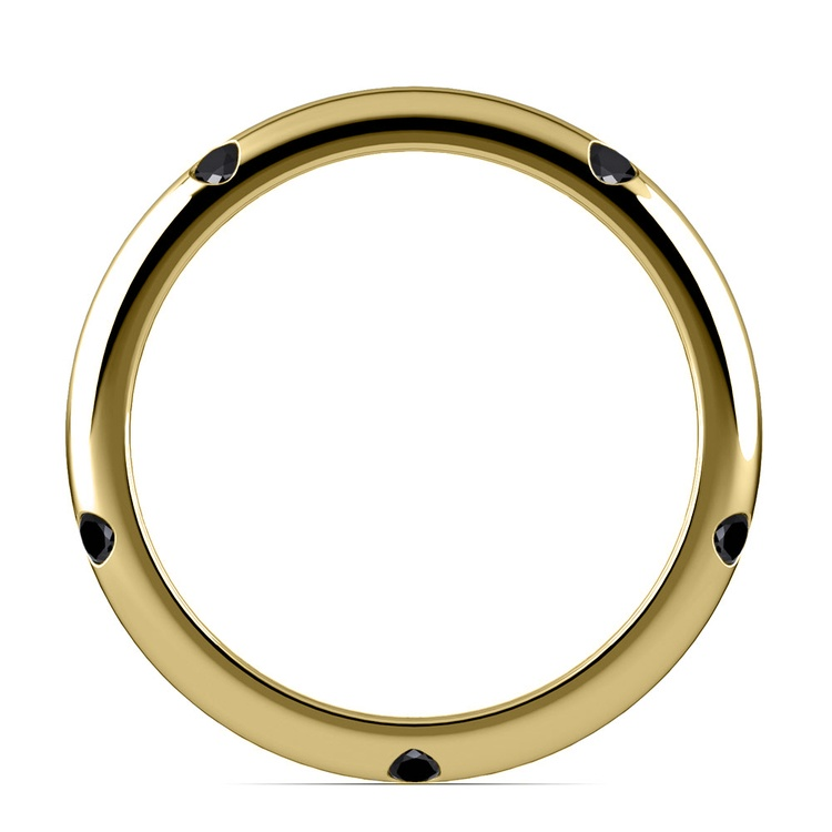 Inset Black Diamond Band in Yellow Gold (3 mm) | 03