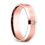 Inset Beveled Men's Wedding Ring in Rose Gold (6mm)   Thumbnail 02